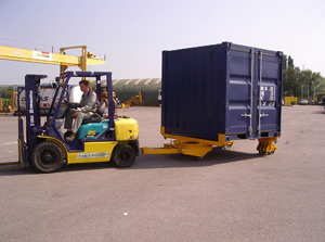 Transfer by forklift
