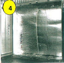 End of the insulation blanket in front ofthe doors