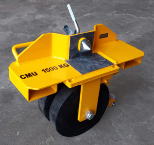 Hard caoutchouc tyres type RJC for uneven ground transfer
