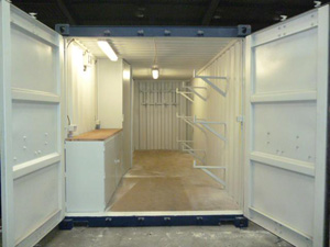 113 -20' container as workshop