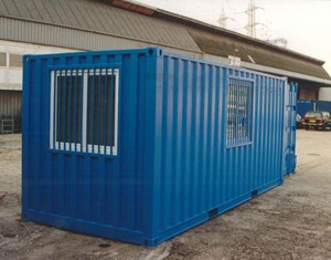 113 -20' container with protected windows