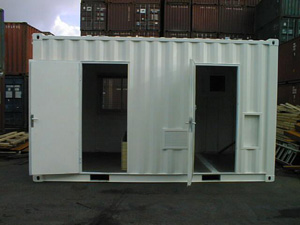 113 -10' container with 2 doors and one inside wall separation