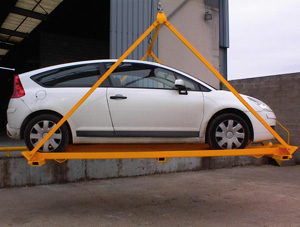 Car lifting by platform