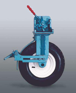 "Pneumatic tyres ""T3"" with parking brake"