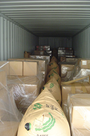 Securing of a container shipment