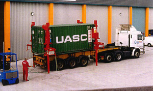 Container loaded on truck