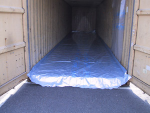 Container floor protection carpets